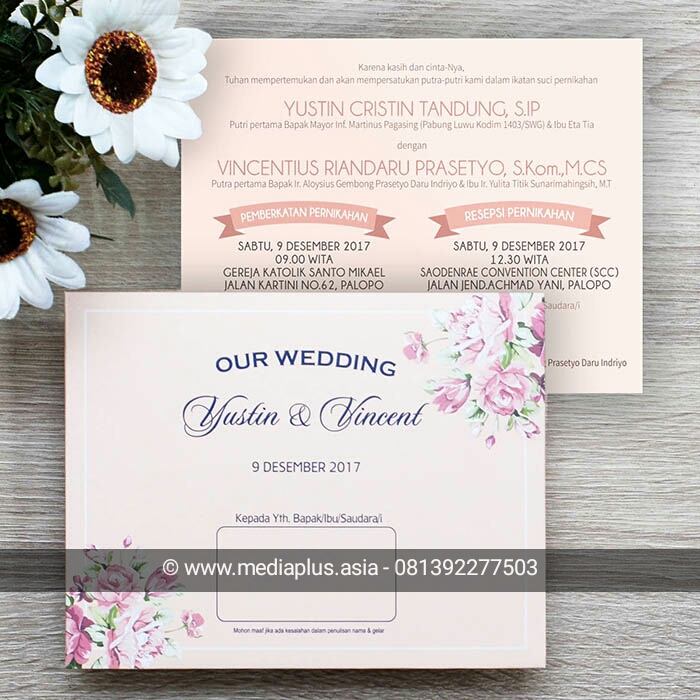 Mp 190 Undangan Softcover Floral